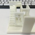 3Dプリンターで打ち合わせ用の建築模型 印刷しています!!