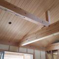 天井に羽目板を貼りました。(鹿児島市川上町平屋 新築注文住宅)