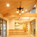 川上町の平屋の住宅。完成いたしました。