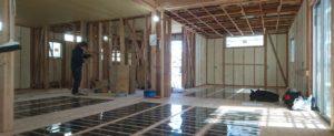 エコクリーンホット床暖房工事(鹿児島市川上町 平屋の新築注文住宅)