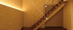 「ストリップ階段」 鹿児島薬師町注文住宅